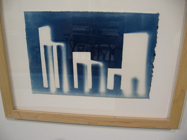 S/M/L, 2014, cyanotype by artist Tom Loeser.