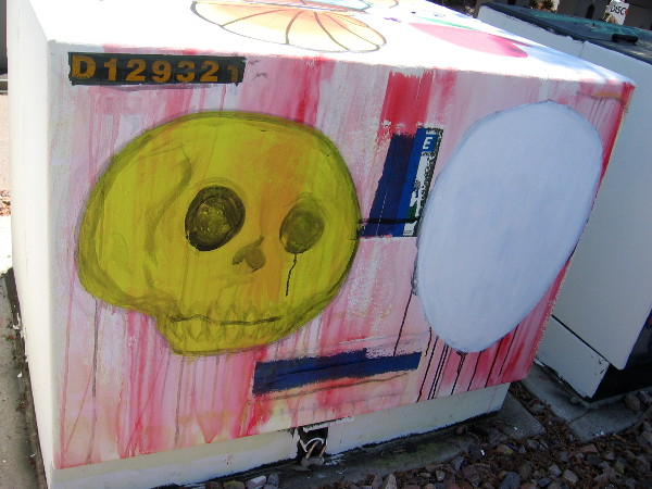 One box seems to be a work in progress, with a yellow skull and empty white oval.