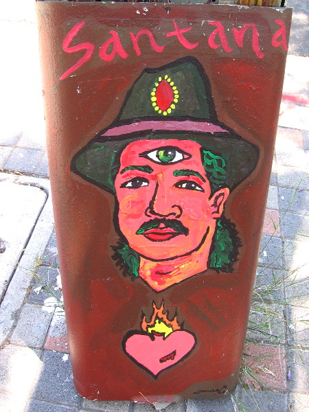 Legendary musician Santana has a third eye.