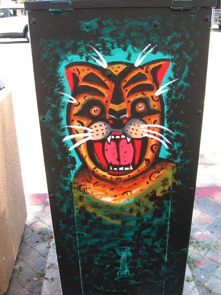 Aztec god of the night and conflict, jaguar Tezcatlipoca.