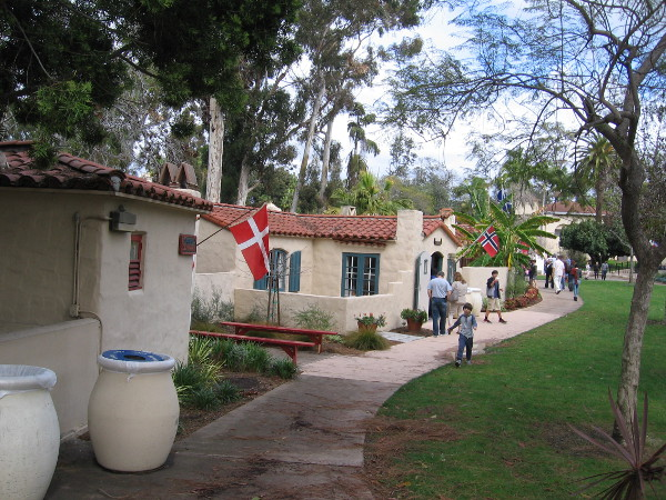 Walking through the House of Pacific Relations International Cottages.