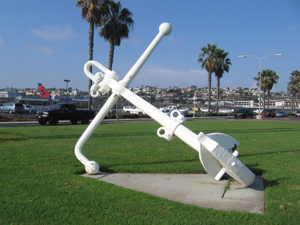 A closer photo of the historical anchor.