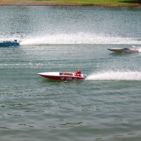 Photos of RC boats racing for San Diego Cup!
