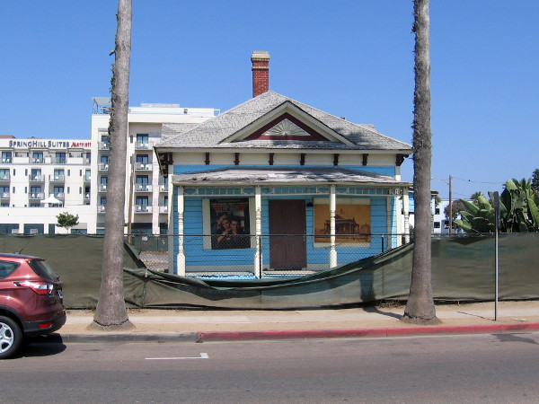 Photo from across North Pacific Street in Oceanside of the famous Top Gun house, an historical landmark that will be restored.