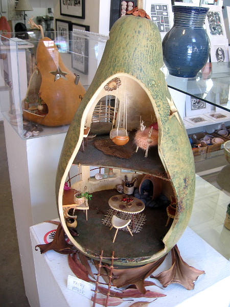 Mary-Ella Bowles in Studio 6 created this fun Fairy House out of a gigantic gourd!