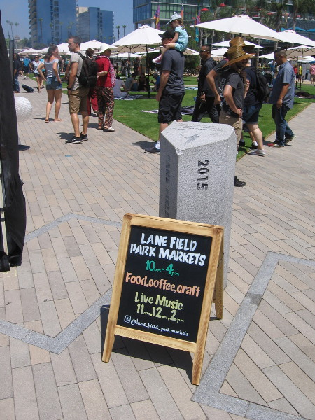 Lane Field Park Markets debuted in downtown San Diego near the waterfront today.
