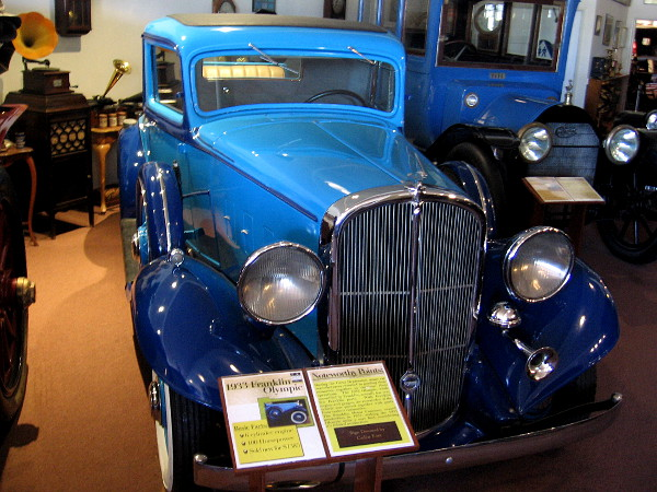 1933 Franklin Olympic, produced one year before Franklin Motor Company ceased operations during the Great Depression.