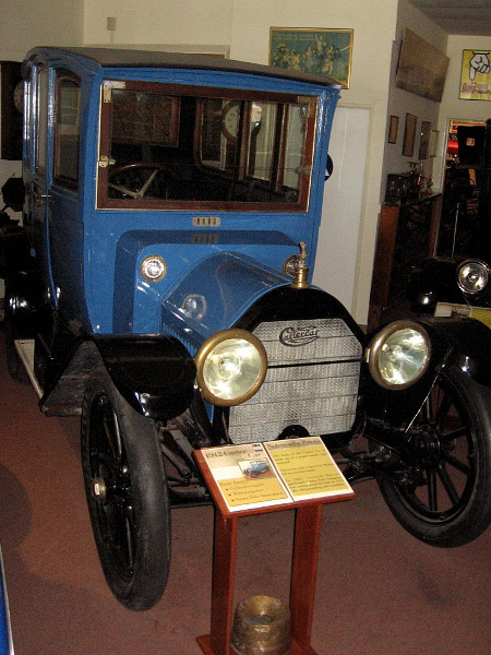 1912 Carter Car. The body of the Carter Car is made of compressed papier-mâché composite panels over wood framing. This car on display is the only Carter Car Sedan left in existence.