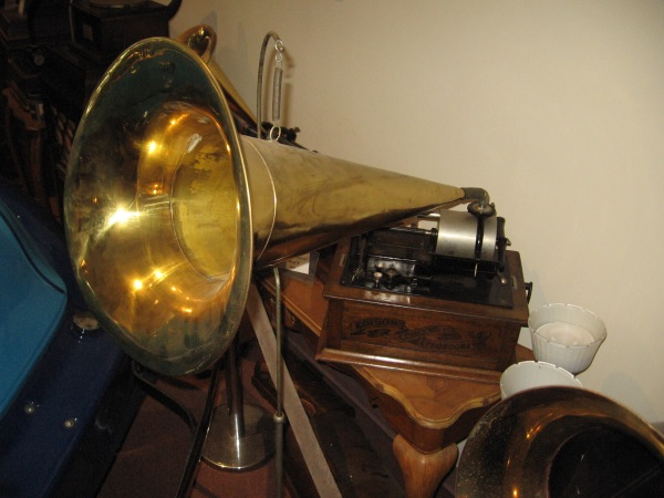 An antique Edison Concert Phonograph.