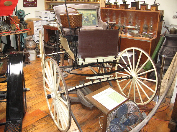 1895 E. A. Gardner Buggy, the only light weight horse drawn carriage that was built in San Diego known to exist today.