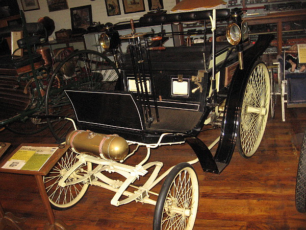 1895 Benz Velo. The world's first mass-produced vehicle. 67 were built the first year, 135 the second.