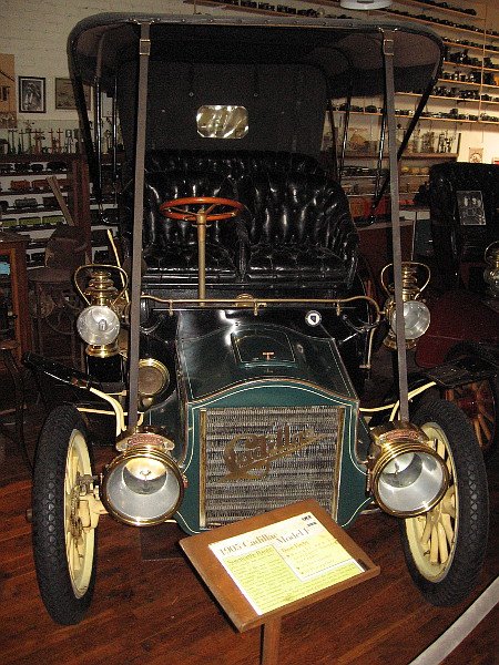 1905 Cadillac Model F. This particular unrestored car was bought new by famed newspaper founder Ira Copley.