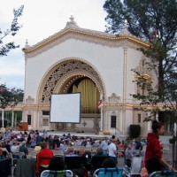 Scenes at Spreckels Organ on Silent Movie Night.