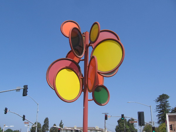 ChromaSol (sunset), an impressionistic interpretation of the sun's colors and intensities. Public art in Chula Vista by artist D. Alan Gjerston, 2006.