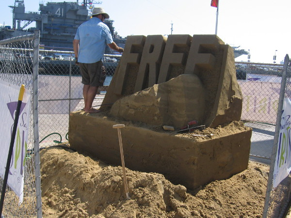MTS will be promoting Free Ride Day on October 2 with this sand sculpture.