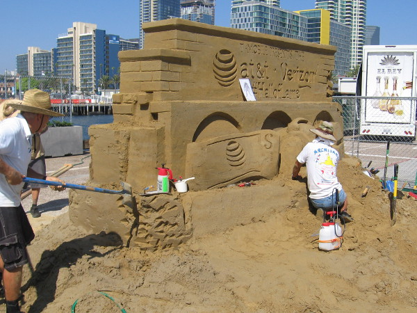 Getting ready for Labor Day weekend and the 2018 U. S. Sand Sculpting Challenge on Broadway Pier!
