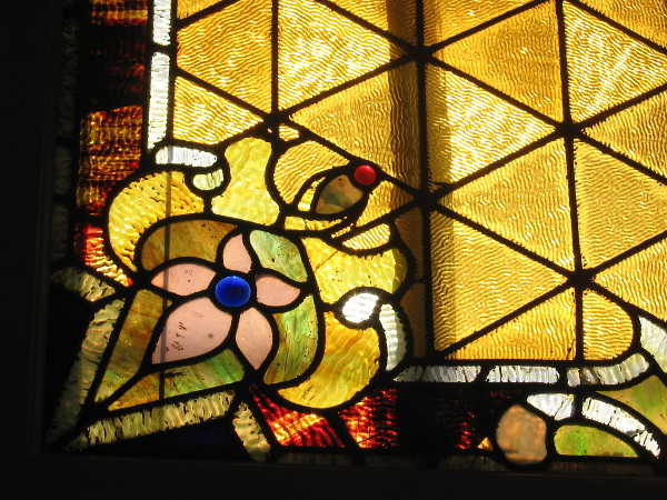 The beautiful art glass windows of the Berkeley remind one of the glowing stained glass found inside cathedrals.