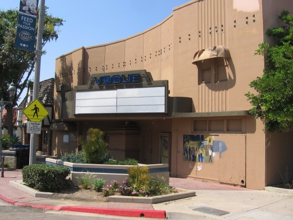 The Vogue Theater, an historic 1945 Chula Vista movie theater designed by architect Frank Hope Jr., awaits renovation.