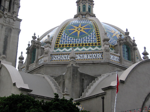 The amazing tile dome of the California Building, home of the Museum of Man.