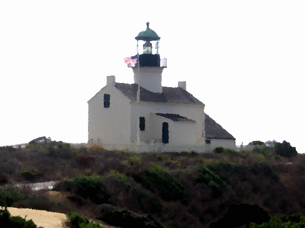 Old Point Loma Lighthouse at Cabrillo National Monument.