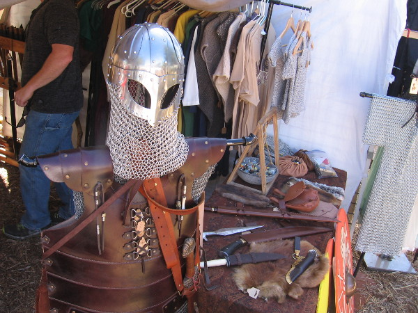 Every sort of Viking armor, costume and dress could be found throughout the festival.