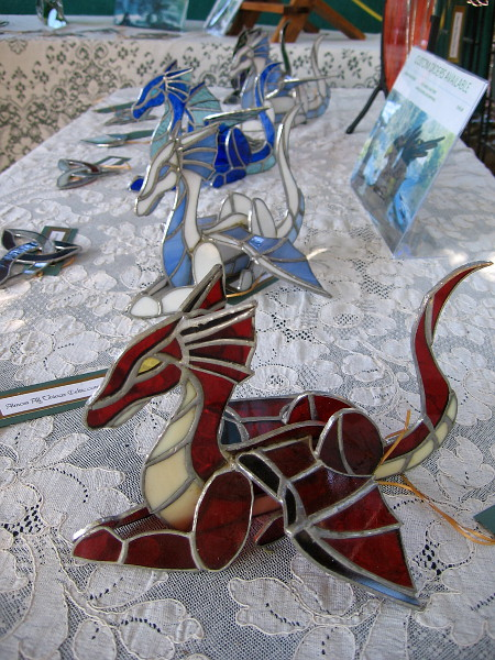 One vendor created these very cool stained glass dragons.