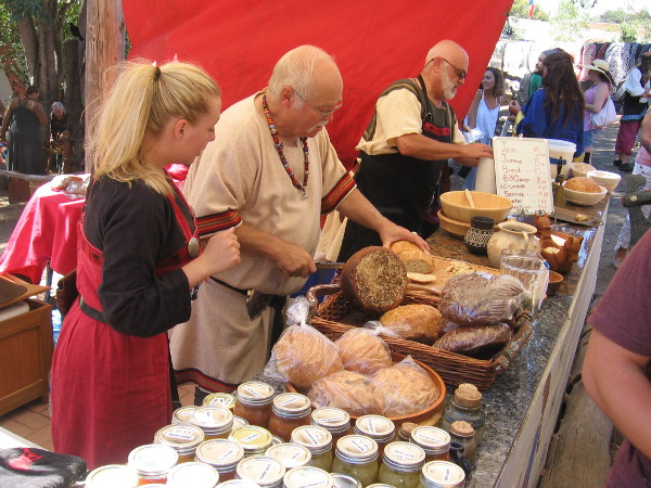 Visitors to the Viking Festival can purchase fresh bread, crumpets, scones and other goodies.