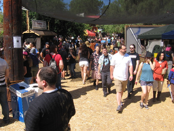 Visitors to the 16th Annual Viking Festival in Vista walk through the Southern Territory.
