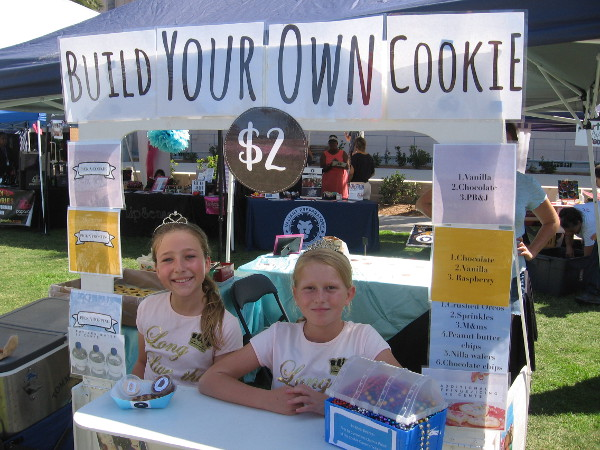 Two youthful entrepreneurs in San Diego invite prospective customers to Build Your Own Cookie!