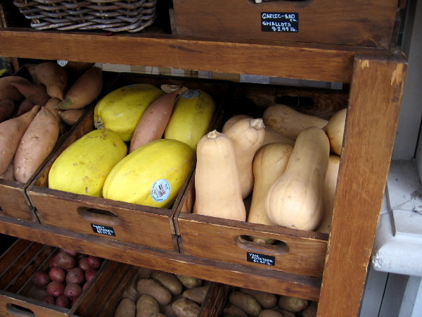 A variety of squash can be found along India Street in Little Italy.