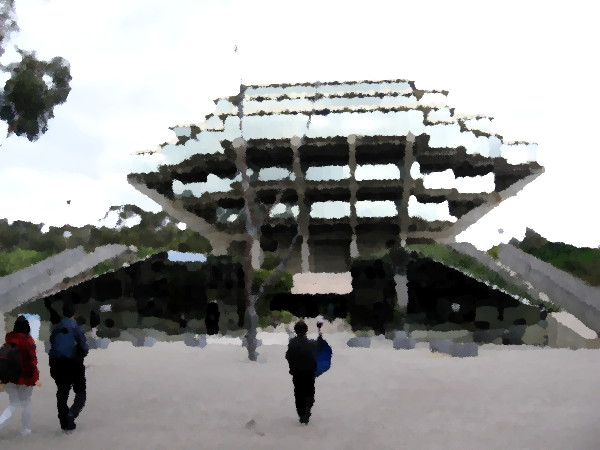 The Geisel Library Building at University of California San Diego.