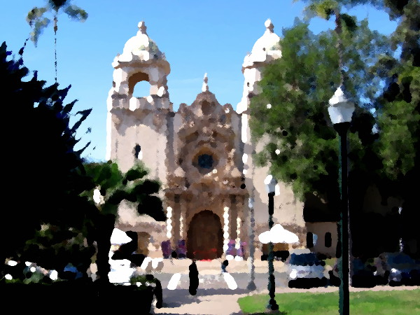 The beautiful Casa del Prado in Balboa Park.
