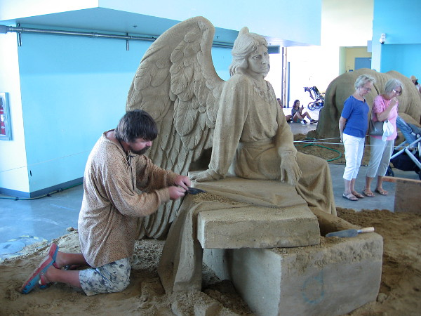 Fantastic art is created by one of the world's top sand sculptors inside San Diego's Port Pavilion at the 2018 U. S. Sand Sculpting Challenge.