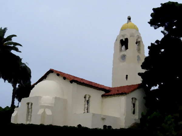 St. Mary's Chapel and Tower of The Bishop's School in La Jolla.