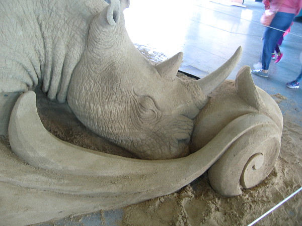The artistry seen in this sand sculpture is extraordinary.