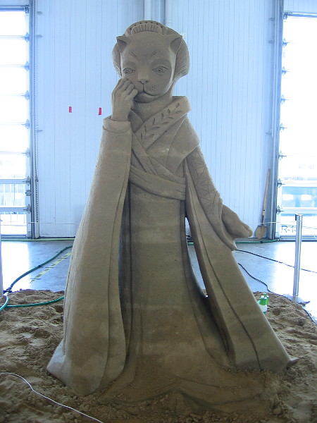 Who Are You?, a fantastic sand sculpture by World Master Agnese Rudzite-Kirillova from Latvia.