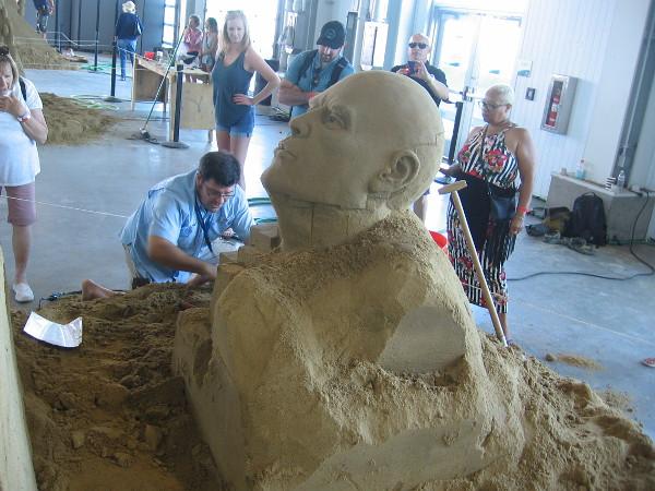 Another amazing sand sculpture inside the Port Pavilion!