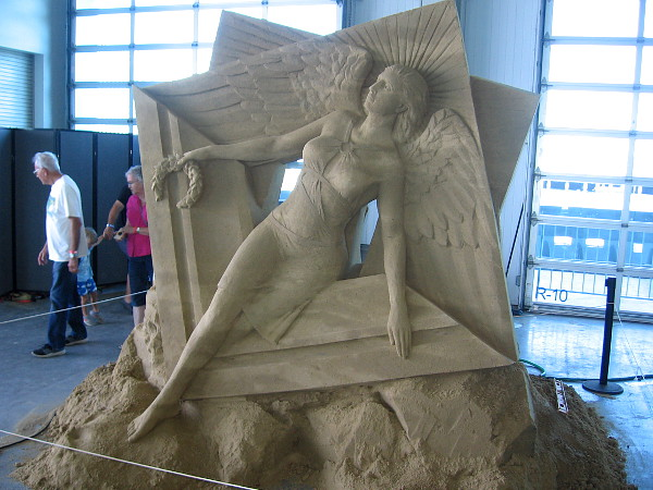 Another work of art. It seems a miracle that such a fine sculpture can be made out of sand.