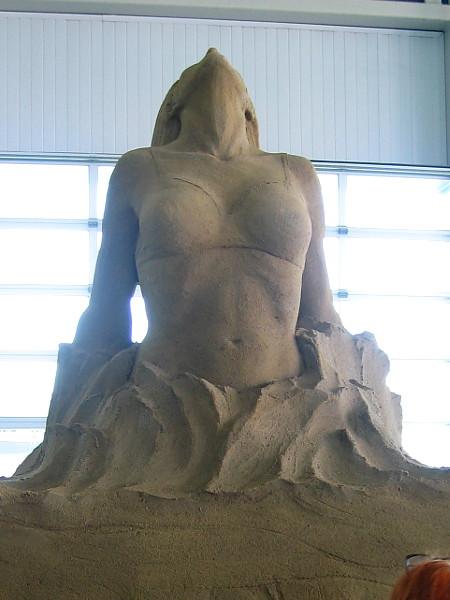 An inspirational sand sculpture in San Diego.