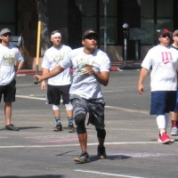 Action photos from Labor Day weekend stickball!