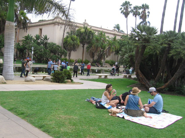 Balboa Park was the ideal place for a picnic this Labor Day.