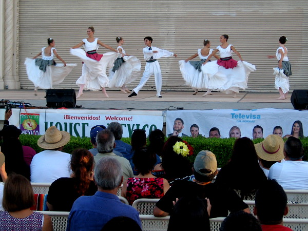 The San Diego School of Ballet performs during Arte, Color y Fiesta, a special event in Balboa Park celebrating Mexican Independence Day.