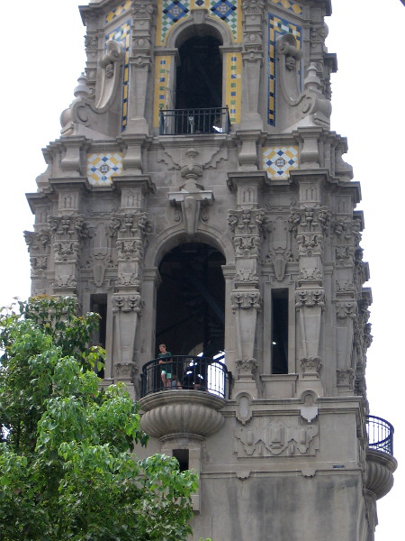 Visitors were touring the California Tower and gazing across Balboa Park.