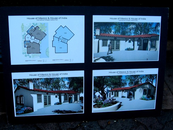 A poster on display during the event showed construction plans for the House of Mexico's cottage in Balboa Park.