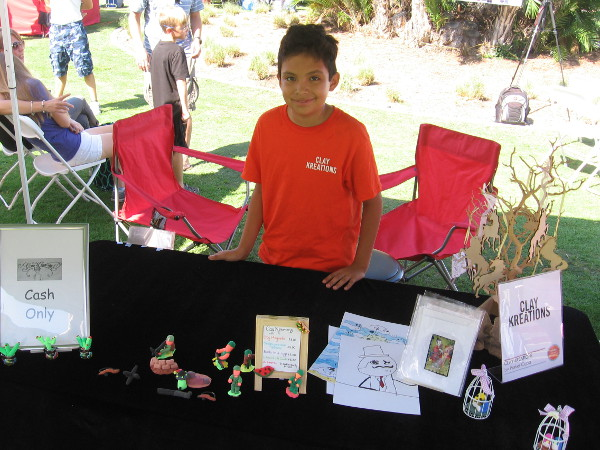 This young entrepreneur created all sorts of very cool Clay Kreations, including magnets and awesome artwork.