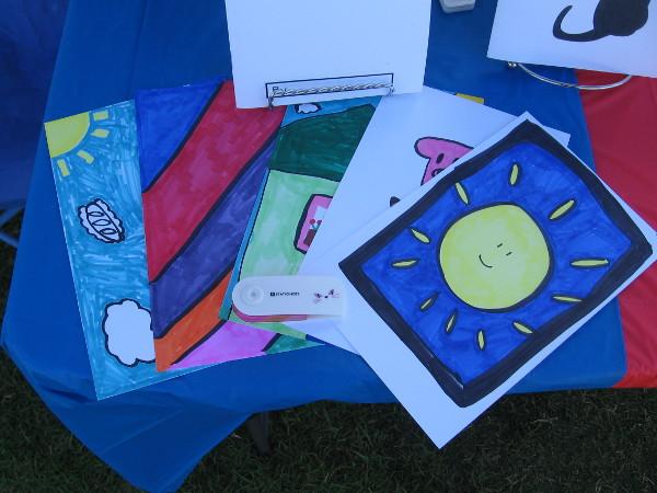 Fun artwork on display created by young aspiring entrepreneurs!