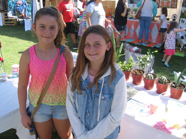 These young ladies of Musicl.ly Brave the Sparkle had lots of cool slime and plants for sale at their table!