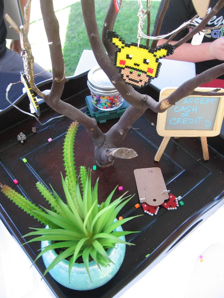 I saw all sort of creative stuff at a large variety of tables at the event. These items were created by the Legacy Creations Kids.