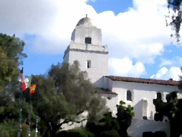 Junipero Serra Museum on Presidio Hill.