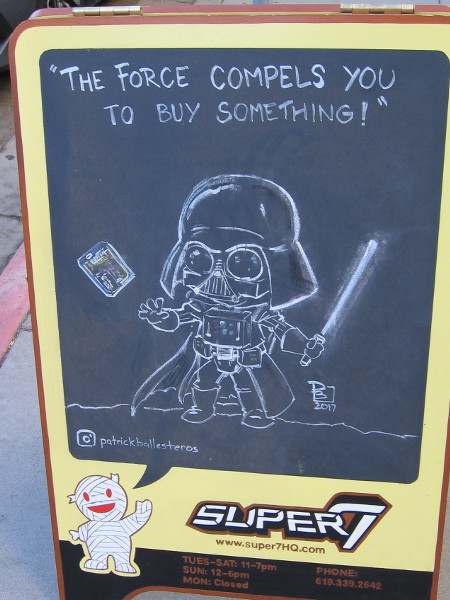 An East Village shop uses The Force to compel would-be shoppers.